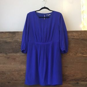 Cobalt 100% Silk Dress